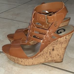 G by Guess Brown Wedges